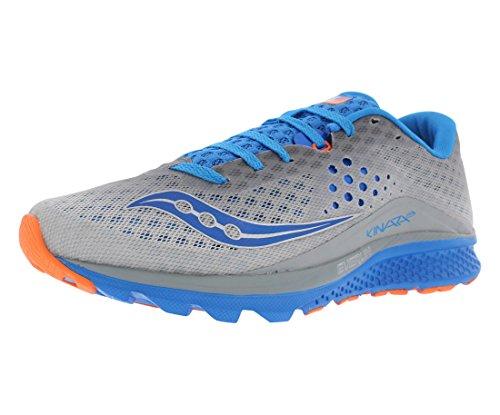 Saucony Men's Kinvara 8 Running Shoe, Grey/Blue/Orange, 10 UK/11 M US