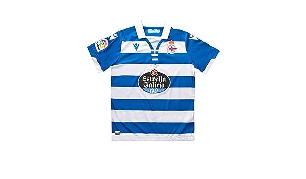Macron RC Deportivo La Coruña Primera Equipación 2019-2020 Niño ...