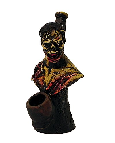 (Bloody Zombie Smoking Pipe - Handmade Tobacco Pipe - Hand Pipe - Smoking Bowl - Collectible - Horror Gift - Apocalypse - Walking Dead - Gore)
