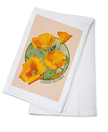 Tehachapi, California - Poppy Flowers - Contour 98122 (100% Cotton Kitchen Towel)