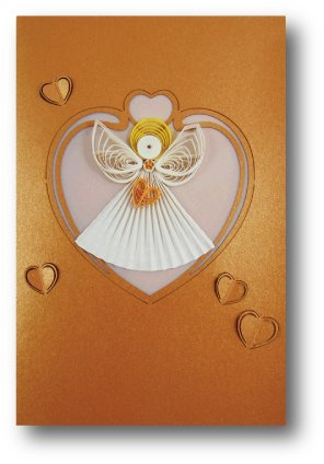 Angel Quilled Paper Cards (Set of 2) - For All Occassions - Blank (Occassion Note Cards)