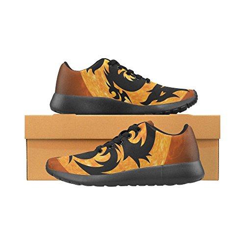 InterestPrint zombie Sports Running Shoes for Men Dragon 306GsoJ3