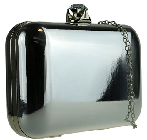 Material Mujer Para Mano De Girly Sintético Cartera Plata Handbags xRYqwI0