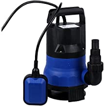 Homdox 1/2 HP Submersible Sump Pump 400W Dirty Clean Water Pump 2115GPH w/ 15ft Cable and Float Switch
