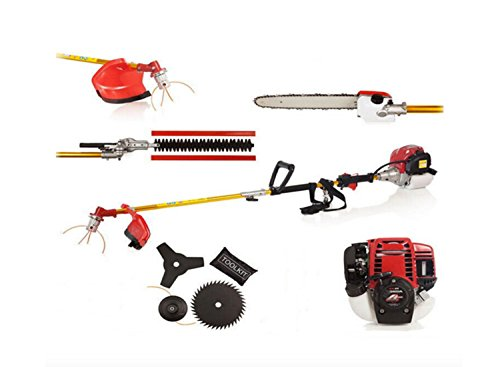 CHIKURA 6 IN 1 POWERED GX35 BRUSHCUTTER WHIPPER SNIPPER CHAINSAW TRIMMER 4-STROKES