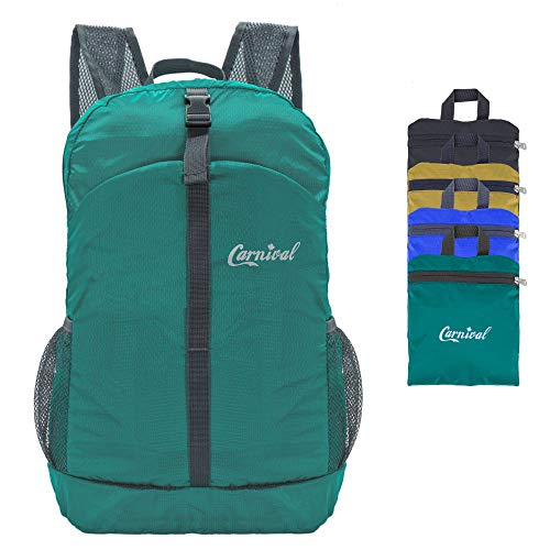 CARNIVAL Ultra Lightweight Packable Backpack Hiking Daypack, Small Handy Foldable Water Repellent Camping Outdoor Backpack(Green)