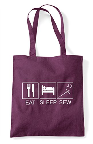 Bag Tiles Eat Activity Shopper Sleep Tote Sew Hobby Funny Plum qSw0ETR7