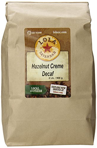 - Lola Savannah Hazelnut Crème Ground Coffee - Arabica Beans Flavored with the Sweet Buttery Essence of Hazelnuts | Decaf | 2lb Bag