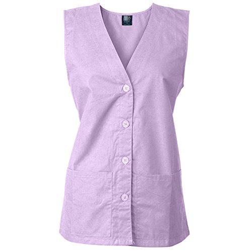 MedGear Women's Scrub Vest for Nurse Uniforms (XS, Lavander)