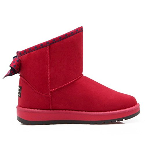 COOLCEPT Botas Calientes para Mujer Red