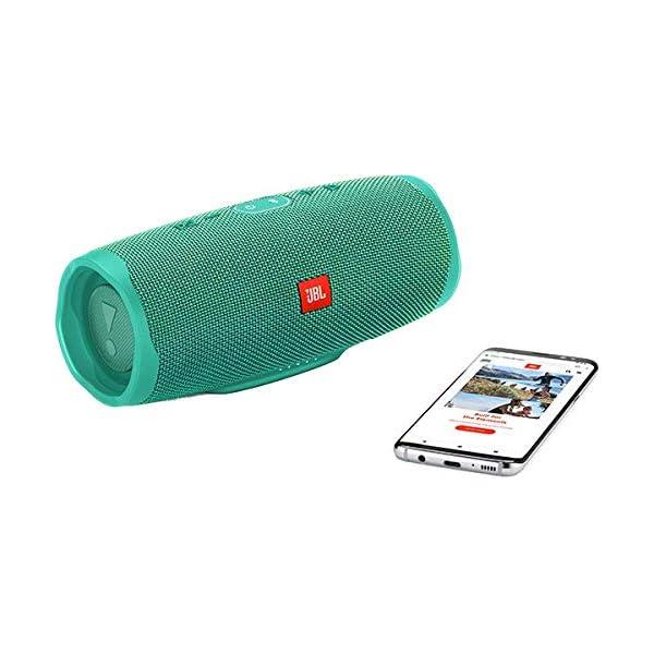 JBL Charge 4 - Enceinte Bluetooth portable avec USB - Robuste et étanche : pour piscine et plage - Son puissant - Autonomie 20 hrs - Turquoise 6