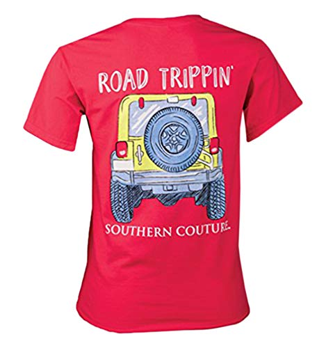 (Southern Couture SC Comfort Road Trippin Womens Classic Fit T-Shirt - Paprika, X-Large)