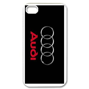 iphone4 4s White Audi phone cases&Holiday Gift