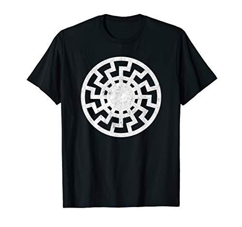 (Black Sun Schwarze Sonne Sonnenrad Sun Wheel Shirt)