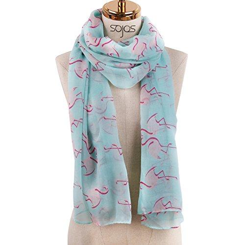 Solid color Fashion Scarf Chiffon Long Hijabs (Blue) - 8