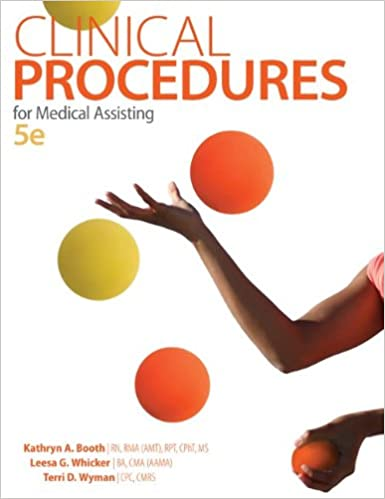 Clinical procedures for medical assisting kathryn a booth leesa clinical procedures for medical assisting 5th edition fandeluxe