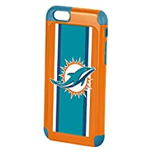 Forever Collectibles Dual Hybrid 2-Piece TPU Case for iPhone 6 - Retail Packaging - Miami Dolphins