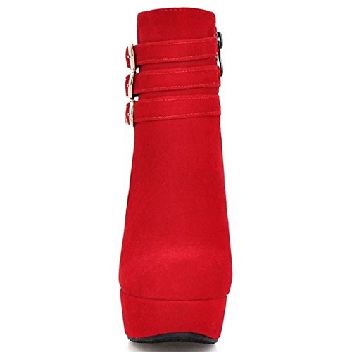 Plateforme Zipper Zanpa Courtes Mode Tailles Big Bottes Femmes E1nBRZq