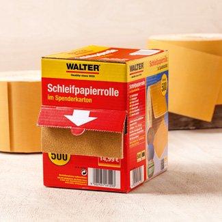 Schleifpapier auf 5m Rolle mit Schaumr/ücken 220er K/örnung