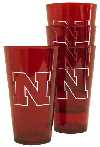 Nebraska Huskers Plastic Pint Glass Set