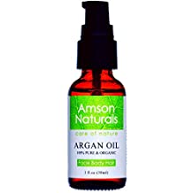 ARGAN OIL 100% Pure & USDA Organic 1 0z (30ml) by Amson Naturals for Face,Body,Nail and Hair Health and Beauty.Best Cold Pressed,Natural Antioxidant,Anti-Aging Moisturizer For All Skin & Hair Types From Morocco