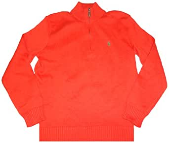 Polo by Ralph Lauren Men Half-Zip Pullover (S, Tie Orange)