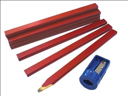 Tischler Bleistifte Tube FAICPR12S 12 + Spitzer Faithfull