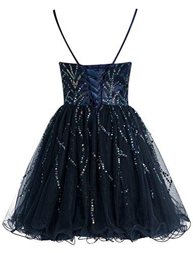 Bbonlinedress Vestido De Fiesta Corto Con Tirantes Escote Corazón De Tul Con Cuentas Marfil