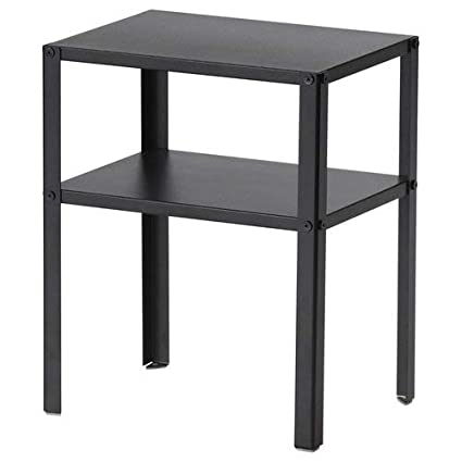Bedside Ikea Cabinet Knarrevik Black Metal Storage Decorative Coffee Table With Shelf