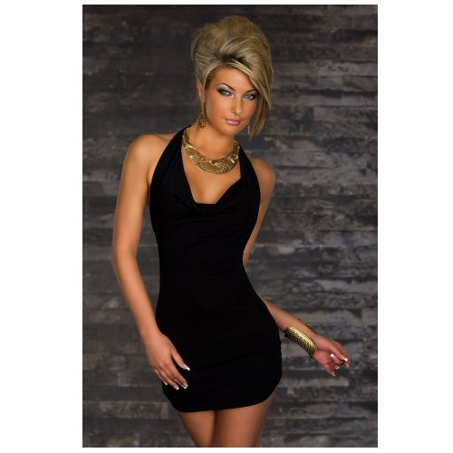 New fashion ladies Women Cowl Neck Backless slimming halter party wear Dress black Cowl Neck Tank Dress