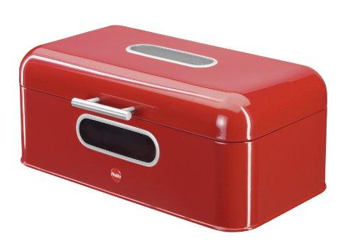 Hailo 0833-610 KitchenLine Square Bread Bin, Red