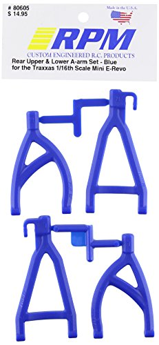 RPM 80605 Rear Upper/Lower A-Arms Blue 1/16 E-Revo Blue