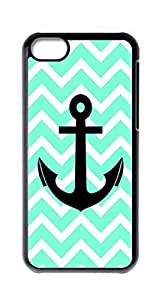 HeartCase Hard Case for Apple iPhone 5C ( Chevron Anchor Boat )