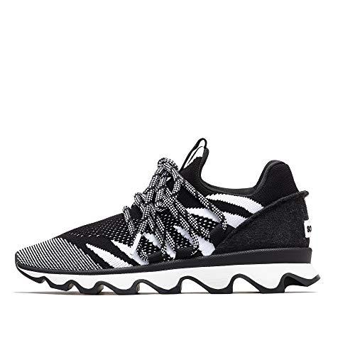 - Sorel - Women's Kinetic Lace Casual Knit Sneakers, Black, 7.5 M US