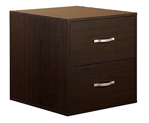 2-Drawer Organizer Cube-Espresso