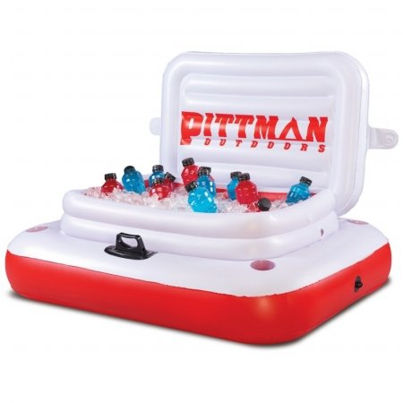 Pittman Outdoors PPI-ICELRG River Drifter Large Floating Ice Chest, Red & White (Ice Chest Repair Kits compare prices)