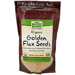 Foods Flax Organic Seed (NOW Foods Certified Organic Golden Flax Seeds, 16-Ounce)