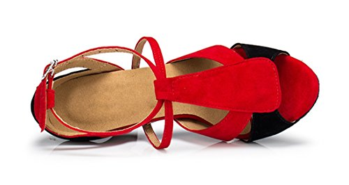 TDA - Zapatos con tacón mujer 7.5cm Heel Red Black