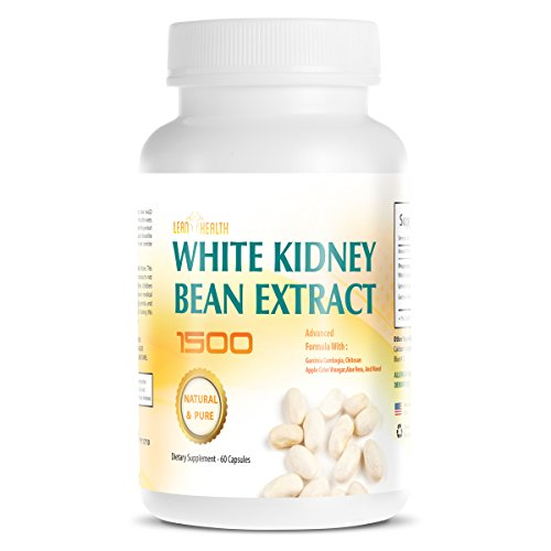 White Kidney Bean Extract -1500 Extreme Natural and Pure Carb Blocker - Appetite Suppressant - Starch Blocker - Advance formula Garcinia Cambogia Apple Cider Vingar Chitosan - Prevents Fat by Lean Health
