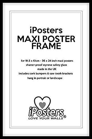 Charmant Bois Noir Affiche Cadre Pour 91.4x61cm (91.5 X 61cm) Maxi Poster   Moulage