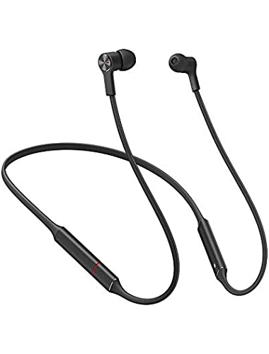 gooplayer for Huawei FreeLace Sports Earphone waterproof in-ear Bluetooth Headset Cordless Memory Silicone  Black