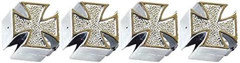 JohnJohnsen Pratico Styling per Auto Croce di Ferro Ruote per Pneumatici Valvole Cappucci Antipolvere Valvole per Tappi per Auto per Moto Valvole Tappi per steli di Alta qualit/à