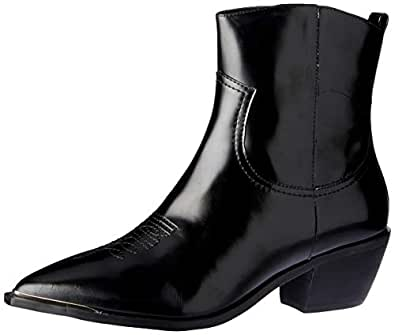 SKIN Footwear Women's Jax Boot, Black Leather, 10 AU