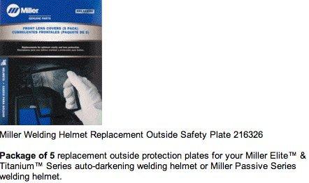 Miller 216326 Elite Front Lens Cover Pkg = 5