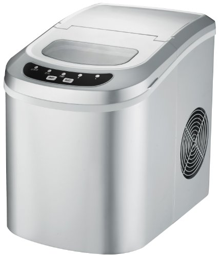 Spt Portable Ice Maker Silver