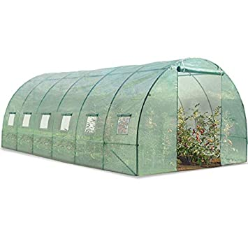 Probache - Grande serre de jardin tunnel 7 arceaux Pro galvanise ...