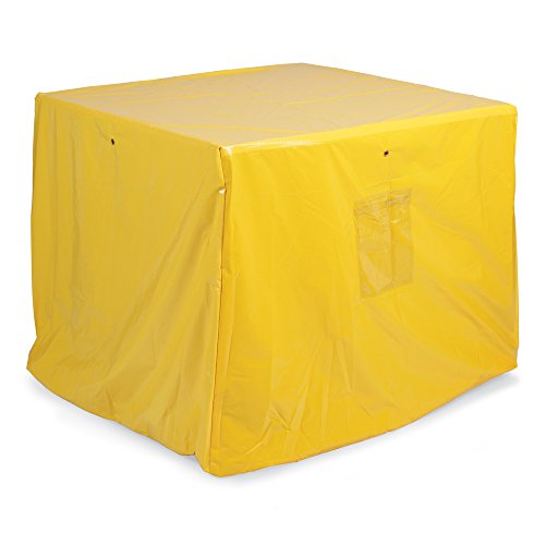 New Pig PAK381 Vinyl Polyester Spill Pallet Tarp, 57'' Length x 57'' Width x 40'' Height, Yellow by New Pig Corporation