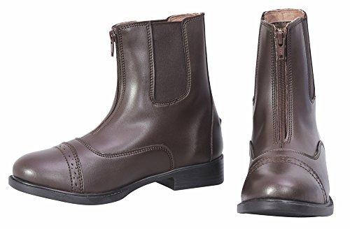 TuffRider Ladies Starter Lite Zip Paddock Boots - Mocha 10