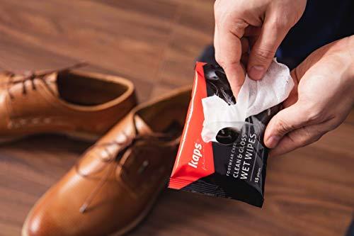 Kaps Lingettes humides de Nettoyage et de Polissage pour Chaussures de, Lingettes jetables d'entretien des Chaussures… 2