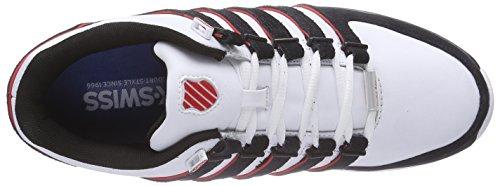 K-Swiss Rinzler SP 02283-M Herren Sneaker Weiß (White/Black/Fiery Red 872)